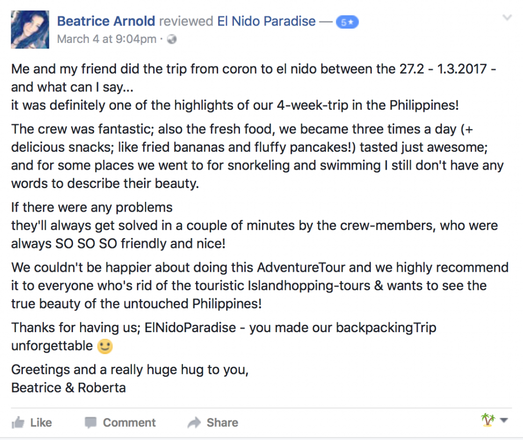 Review for El Nido Paradise Expedition to Coron