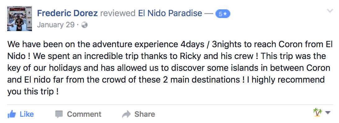 Facebook Review - Ultimate Adventure Tour
