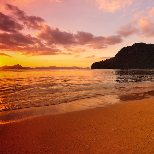 Sunset in El Nido - Overnight Camping