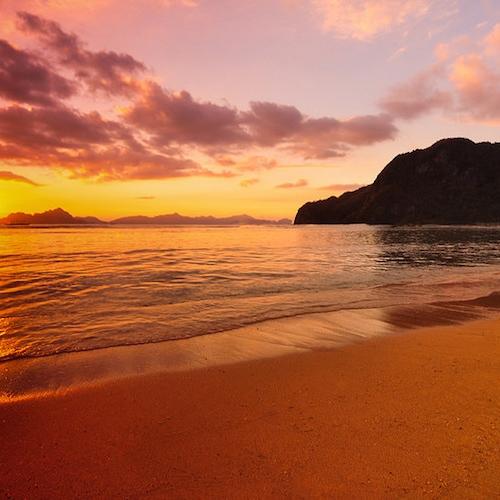 Sunset in El Nido - Overnight Camping