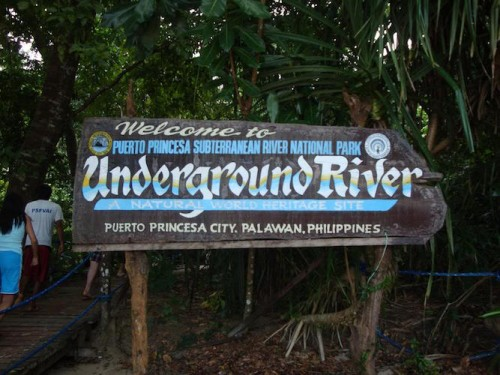 The Underground River entry sign